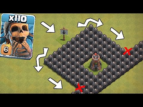 DUMBEST BASE EVER!!🔸WALLBREAKER TROLL BASE😀Clash Of Clans