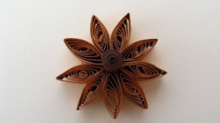 ✿ Quilling - Floare - Tutorial 1 - AidaCrafts