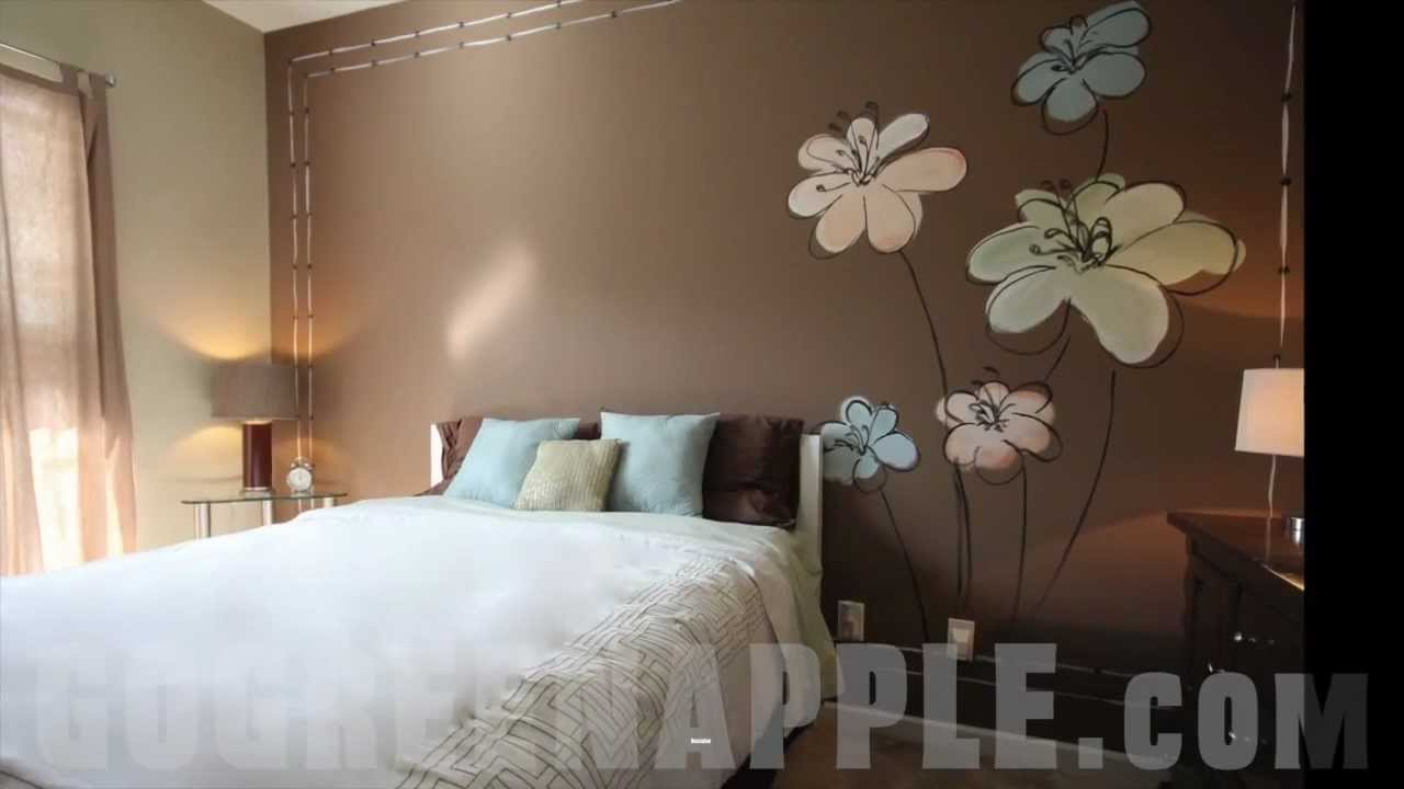 Master bedroom decorating idea green apple painting youtube for Suhagrat bed decoration design