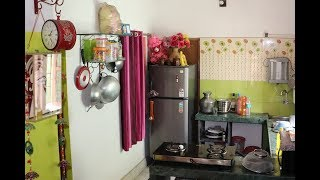 INDIAN MINIMAL KITCHEN TOUR/NON MODULAR INDIAN KITCHEN/DECOR IDEAS