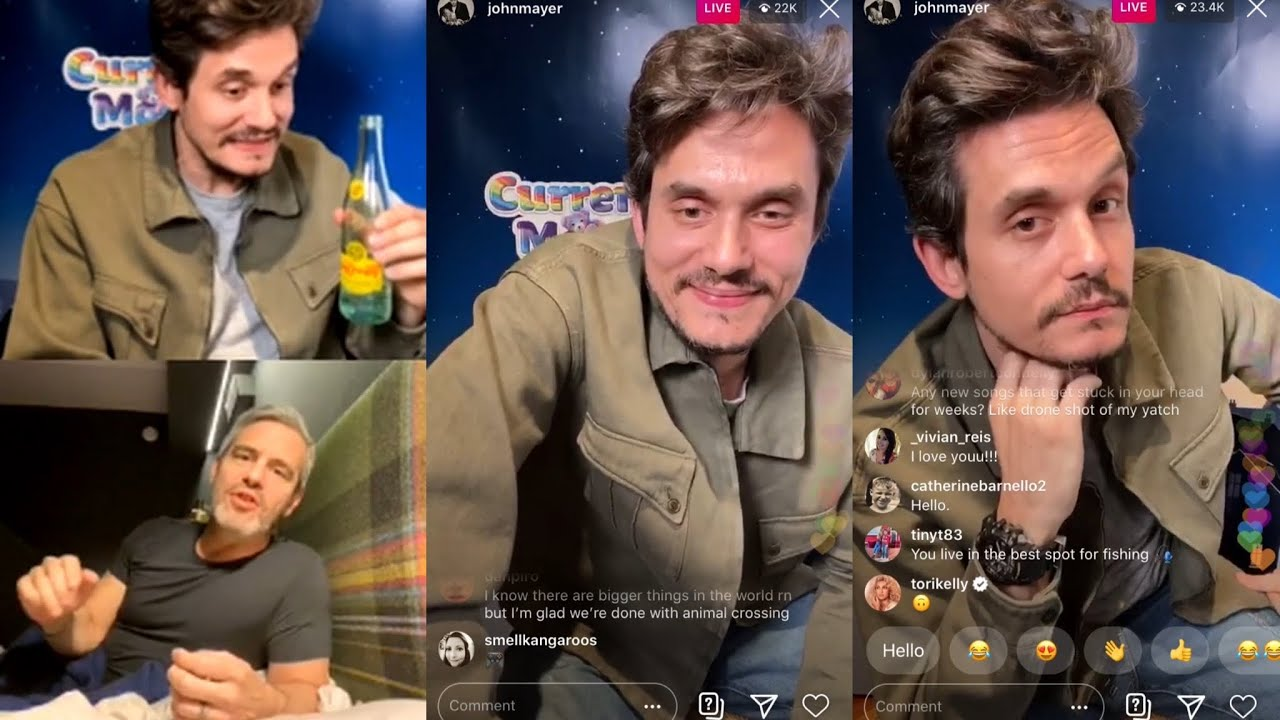 """Download Current Mood """"The Gentle Hours"""" - John Mayer Instagram Live (04/05/2020) with Andy Cohen"""