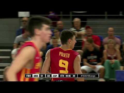 Miguel González y Josep Puerto vs Serbia - FIBA U18 European Championship (29 - 7 - 2017)