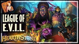 THE LEAGUE OF E.V.I.L. DECK! - Rise of Shadows Hearthstone