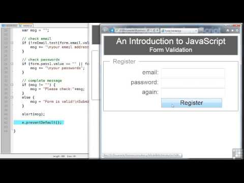Javascript Programming Tutorial | Client-Side Validation of Forms