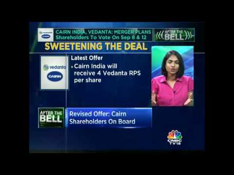CAIRN INDIA, VEDANTA PROPOSED MERGER, Shareholders To Vote On Sep 8 & 12