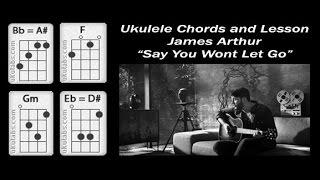 James Arthur Say You Won't Let Go - Ukulele Lesson and Chords Mp3