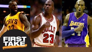 Kobe Bryant or LeBron James: First Take debates closest to being Michael Jordan | First Take | ESPN