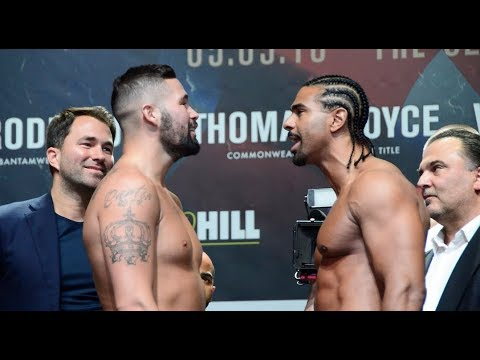 HEATED! - TONY BELLEW v DAVID HAYE - OFFICIAL WEIGH-IN VIDEO   *FULL & UNCUT* / THE REMATCH