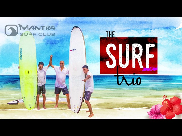 Surf Trio - Students learn Surfing at Mantra Surf Club