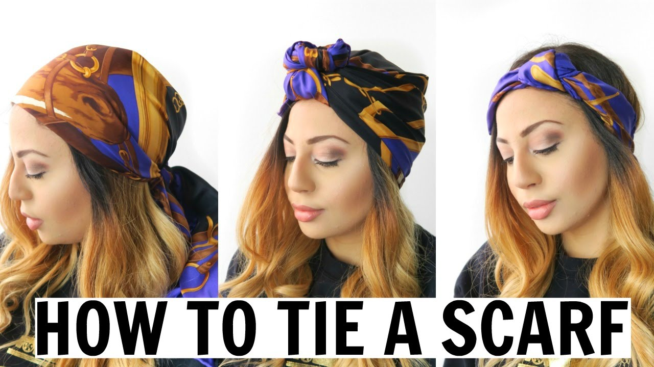 How To Tie A Head Scarf Youtube