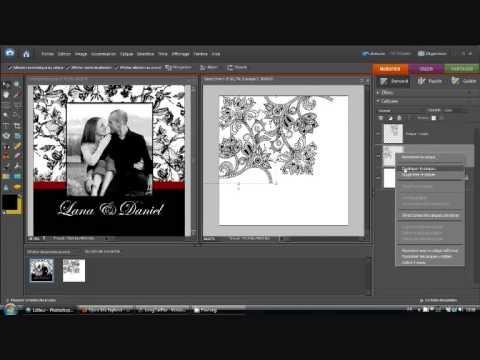 cr er un faire part mariage pas cher avec photoshop partie 2 youtube. Black Bedroom Furniture Sets. Home Design Ideas
