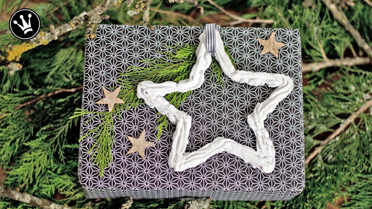 diy weihnachtsdeko sterne aus beton mit spritzbeutel christbaumschmuck. Black Bedroom Furniture Sets. Home Design Ideas