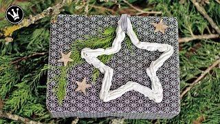 DIY - Weihnachtsdeko | Sterne aus Beton | mit Spritzbeutel | Christbaumschmuck | Geschenkanhänger