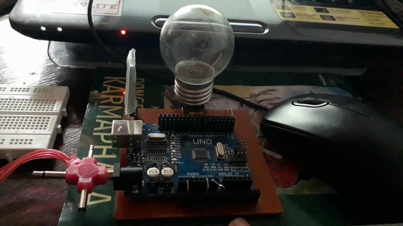 Arduino project on off lampu led dengan hp youtube
