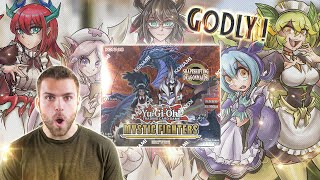 NEW *GODLY* YuGiOh MYSTIC FIGHTERS Box Opening & Review! DRAGONMAID WAIFUS!!