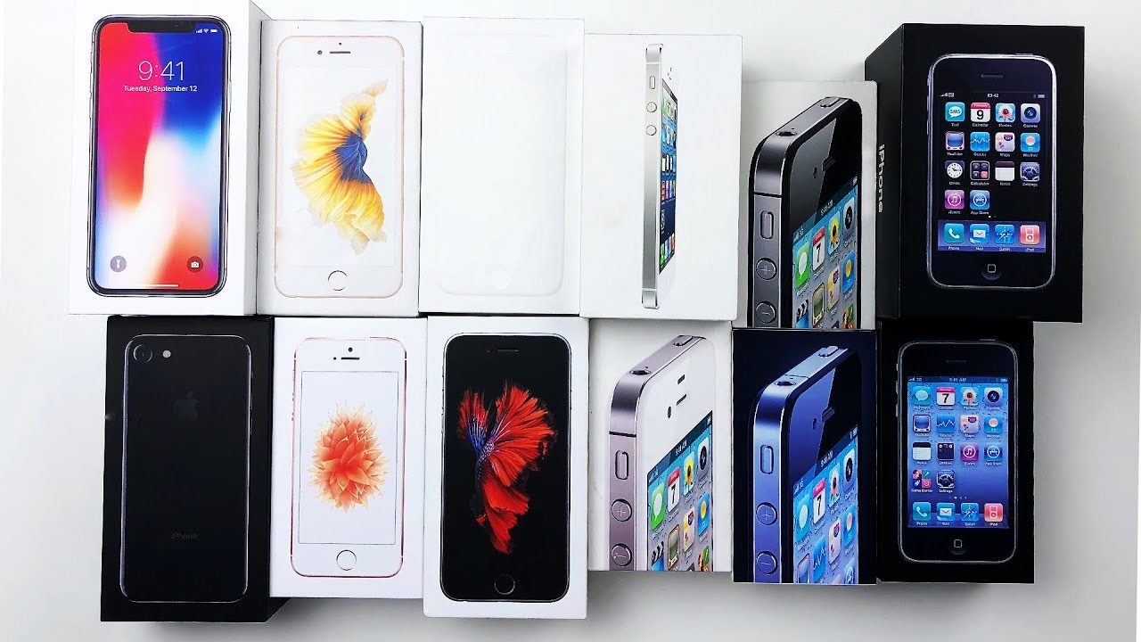 Every iPhone box EVER! - (almost) - YouTube