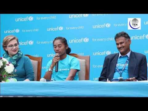Sprinter Hima Das Becomes First ever 'Youth Ambassador' of UNICEF India | UNICEF Ambassador
