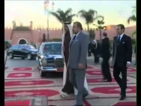 Emir Qatar visite Mohammed VI au Maroc أمير قطر وملك المغرب