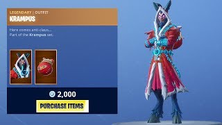 *NEW* KRAMPUS SKIN! (Fortnite Item Shop 23rd December)