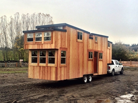 Three bedroom tiny house for tiny family living youtube for 2 bathroom tiny house