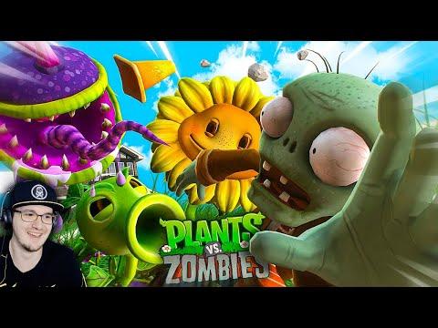 ЗАРУБА НА ОГОРОДЕ (Plants vs Zombies) ► Зомби Против Растений Хумас | Реакция