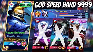 Godspeed Hands?! Hayabusa Super Fast and Wise Skill Combos!! | Mobile Legends