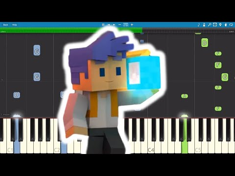 Turn It Up - Minecraft Original Song - Captain Sparklez - Piano Cover / Tutorial