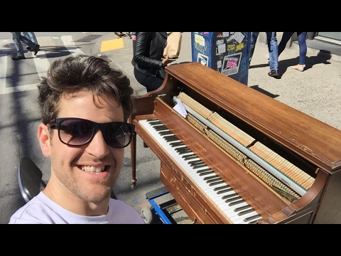 A beautiful day for piano in the streets! New York City