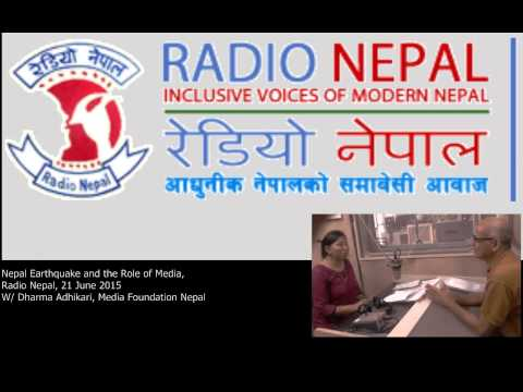Radio Nepal Interview On The Role Of Media In Disaster Reporting [In Nepali]