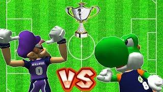 Super Mario Strikers - Waluigi Vs Yoshi, Koopa Round 4 (Professional) in Flower Cup