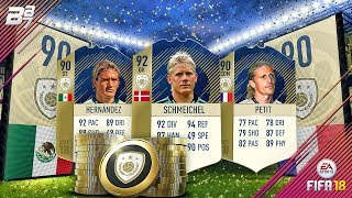 NEW PRIME ICON SQUAD BUILDING CHALLENGES! SCHMEICHEL HERNANDEZ AND PETIT   FIFA 18 ULTIMATE TEAM