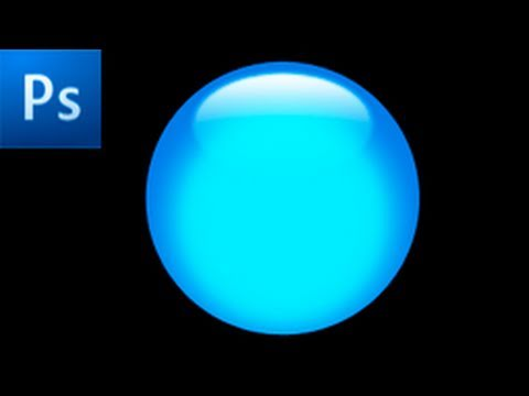 Photoshop Tutorial: Create a Glossy Button -HD- - YouTube