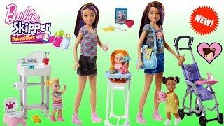 New Barbie Skipper Babysitters Inc Toys - Barbie Baby Stroller, Crib and Highchair!