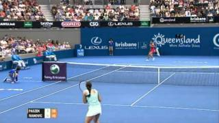 Tamira Paszek v Ana Ivanovic Highlights Women's Singles RD 1: Brisbane International 2012