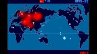 Покадрово карта каждого ядерного взрыва с 1945 года - Исао Хашимото
