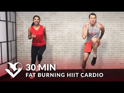 30 Minute Fat Burning HIIT Cardio Workout at Home for Women & Men - 30 Min Cardio Workouts