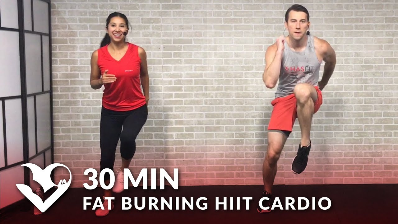 b1fb6a39f0d 30 Minute Fat Burning HIIT Cardio Workout at Home for Women   Men - 30 Min  Cardio Workouts