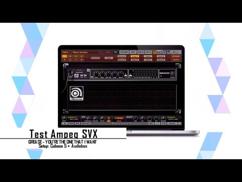 #01 Test Ampeg SVX / Grease - You're The One That I Want (Bass Cover)