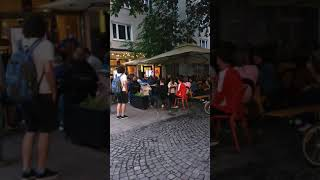 Football fever Germany fans enjoying football at open restaurants in Munich