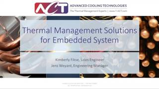WEBINAR: Thermal Management Solutions for Embedded Computing Systems