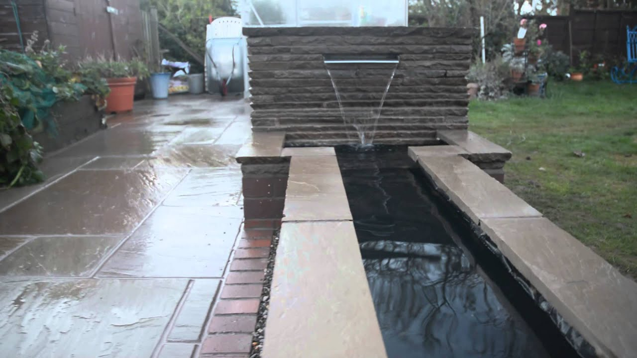 Modern Water Feature - YouTube on Modern Backyard Water Feature id=53306