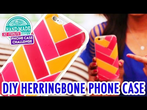 DIY Washi Tape Herringbone Phone Case - HGTV Handmade Phone Case Challenge