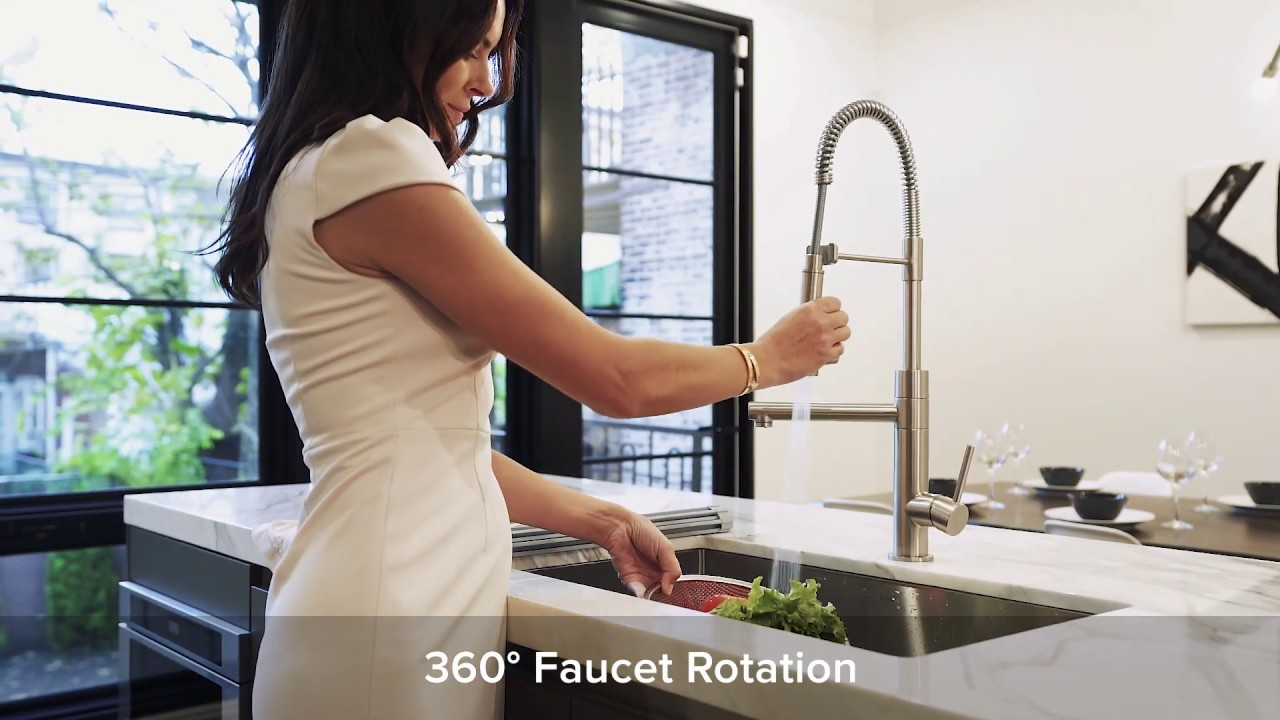 artec pro by kraus 2 function commercial style kitchen faucet