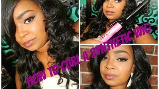 How to Curl a Synthetic Wig with a Curling Iron!!! Thumbnail