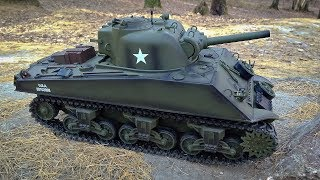Танк на Радиоуправлении US Sherman M4A3 Heng Long 1/16 2.4G