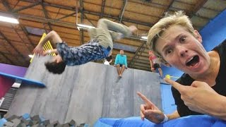 TEACHING A CELEBRITY TO BACKFLIP!