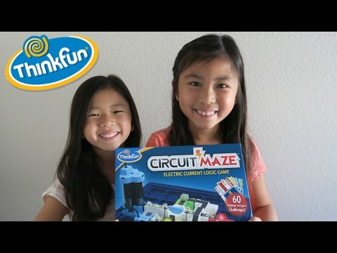 Circuit Maze Game by Thinkfun Unboxing and Demonstration