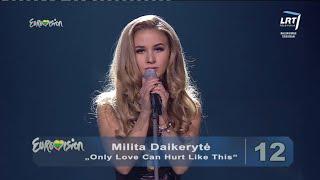 """Dainininkė Milita Daikerytė atliko Palomos Faith kūrinį """"Only Love Can Hurt Like This"""""""
