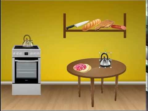 Логопедические игры онлайн, тема кухня