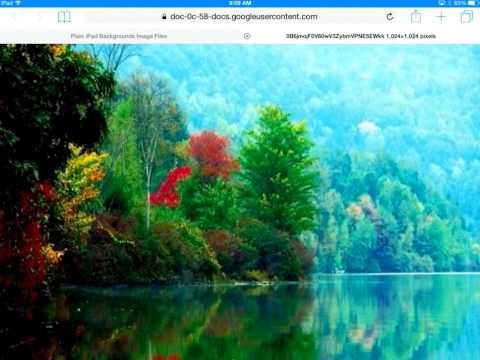 iPad Backgrounds (wallpaper) tutorial